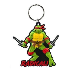"Teenage Mutant Ninja Turtles Soft Touch PVC Key Ring: ""Raphael"" - Multi"