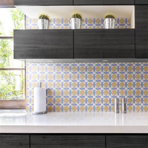SomerTile Revival Leaf Mini 4x4-inch Ceramic Floor and Wall Tile (27 tiles/3.29 sqft.) - CASE