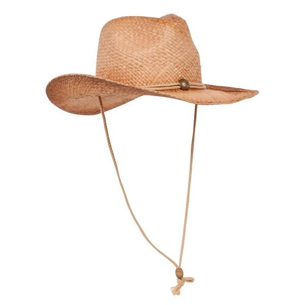 c1428b5206f6d Shop Top Headwear Outback Tea Stained Raffia Straw Hat - Free ...