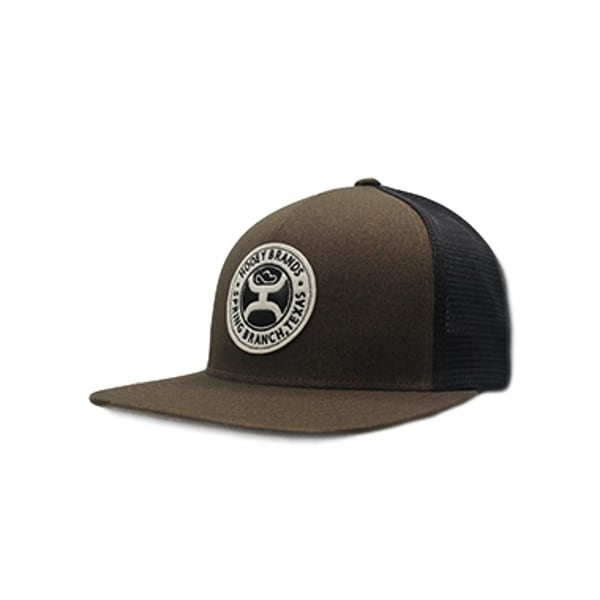 21f10b43d HOOey Hat Mens Trucker Guadalupe Snapback One Size Brown Black