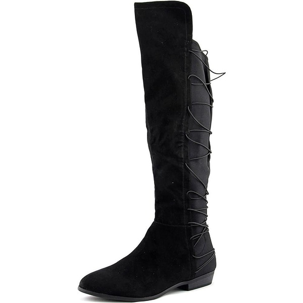 Material Girl Womens Cayln Fabric Closed Toe Knee High Fashion Boots