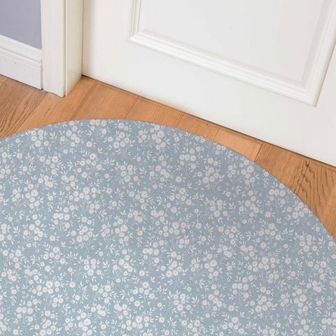GARDEN BLUE Indoor Floor Mat By Kavka Designs