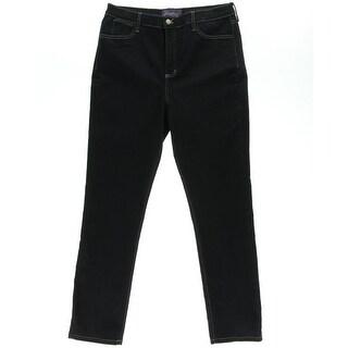 NYDJ Womens Lori Marin Wash Mid-Rise Skinny Jeans - 4