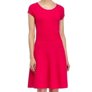 Eliza J NEW Pink Women's Size Large L A-Line Textured Sweater Dress