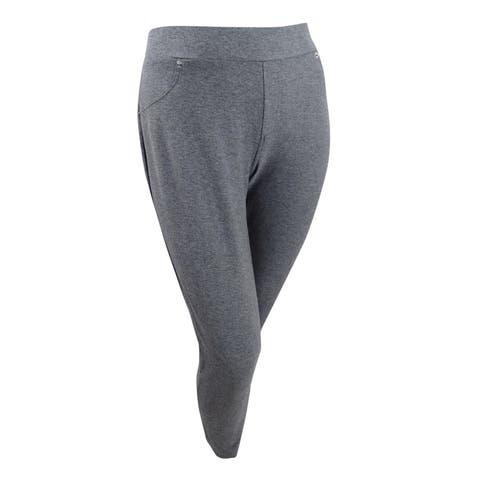 Michael Michael Kors Women's Plus Size Stretch-Twill Leggings (1X, Derby) - 1X