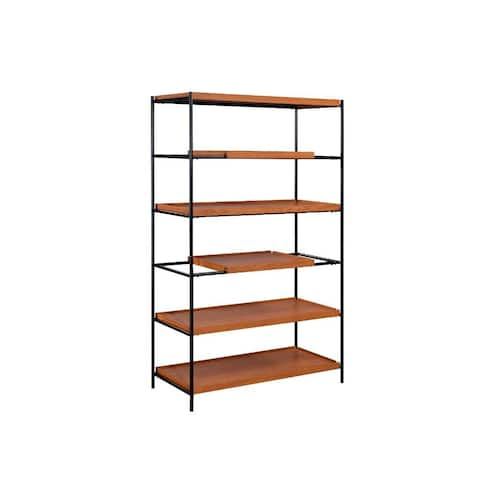 Q-Max 70' H Five-tire Open shelf Rectangular Bookshelf