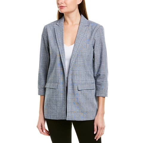 Cupcakes And Cashmere Wheeler Linen-Blend Blazer