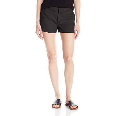 Michael Stars Women's Linen Classic Short, Black, SZ: XS