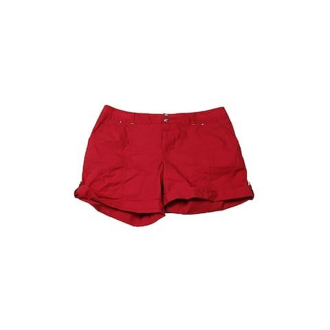 Inc International Concepts Red Cuffed Twill Shorts 4