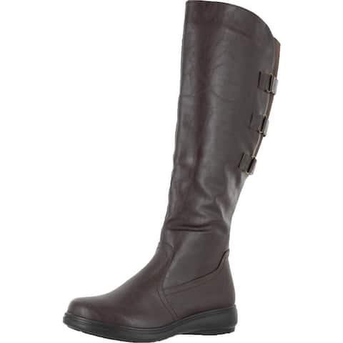 Easy Street Womens Presley Riding Boots Faux Leather Knee-High
