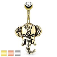 Elephant Head 316L Surgical Steel Navel Ring