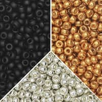Exclusive Beadaholique Designer Palette, Miyuki Seed Bead Mix, Round 11/0, 70.5 Grams, Seine