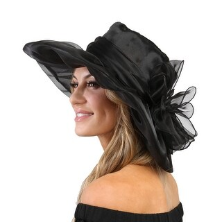 ChicHeadwear Organza Floppy Church Hat - One size