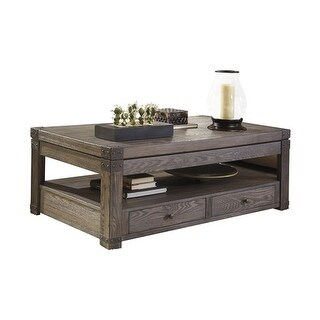 Ashley T846-9 Burladen Lift Top Coffee Table w/ Vintage Finish