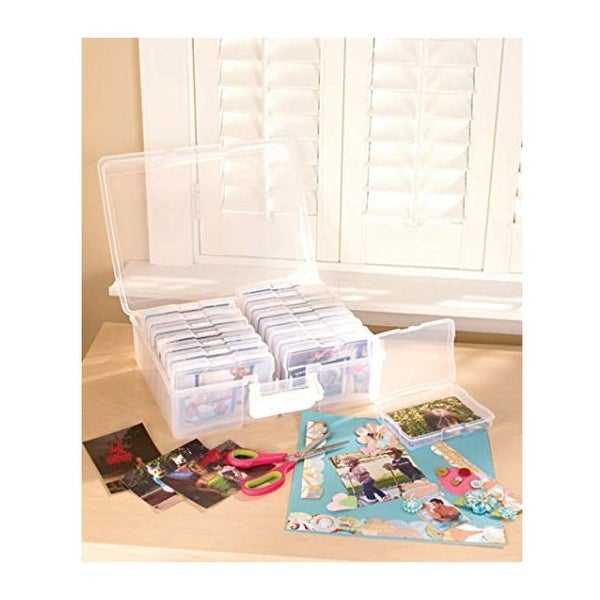 """Scrapbooking 1,600 Photo Organizer Case - 16 Inner Cases - Snap Closures - 9'6"""" x 13'6"""". Opens flyout."""