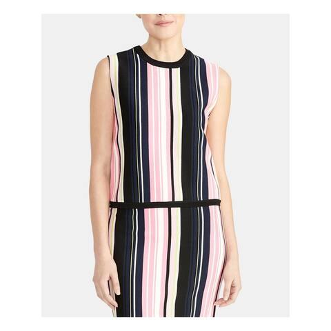 RACHEL ROY Womens Pink Striped Sleeveless Tank Top Size XL