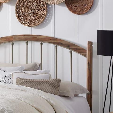 Hillsdale Furniture Bayfront Wood and Metal Headboard, Pewter