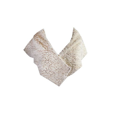 Sl Fashions York Ivory Faux-Fur Sequin Stole OS