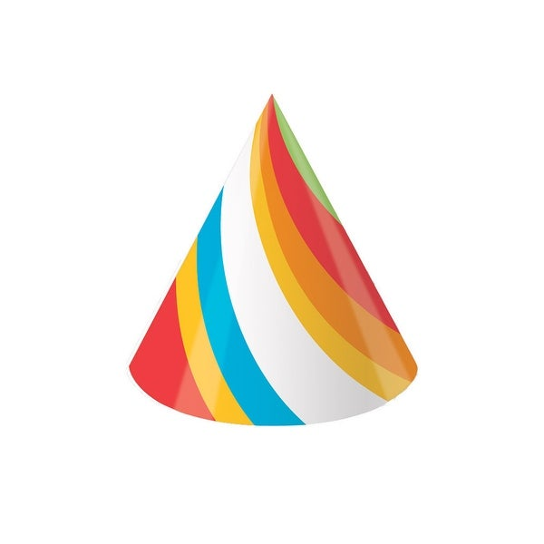 Party Hats Sugar Buzz Cone Hats Pack Of 8