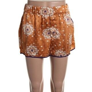 Zara Womens Silk Printed Casual Shorts