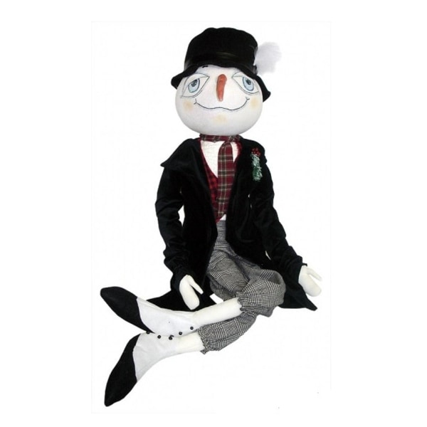 "53"" Gathered Traditions Stanford the Snowman Decorative Christmas Display Figure"