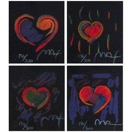 Heart Suite III, Four Ltd Ed Litho (Mini), Peter Max