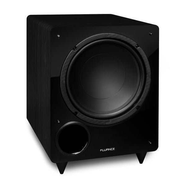 Fluance DB10 10-inch Low Frequency Ported Front Firing Powered Subwoofer for Home Theater & Music