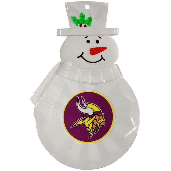 "Minnesota Vikings 4.5"" Acrylic Traditional Snowman Ornament"