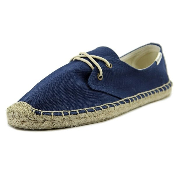 Soludos Lace Up Espadrille Women Navy Flats