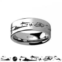 THORSTEN - Star Wars A New Hope Death Star Space Battle Tungsten Ring Episode IV - 6mm