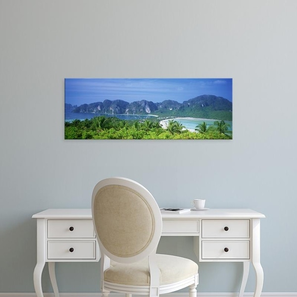 Easy Art Prints Panoramic Images's 'Thailand, Phi Phi Islands, Mountain range and trees in the island' Canvas Art