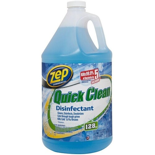 Zep ZUQCD128 Quick Clean Disinfectant, 128 Oz