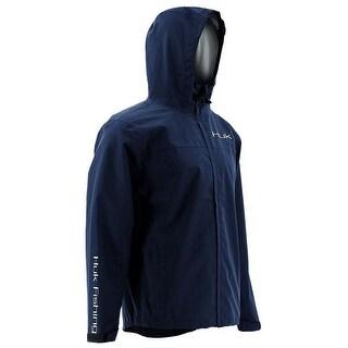 Huk Men's Packable Navy Large Rain Jacket