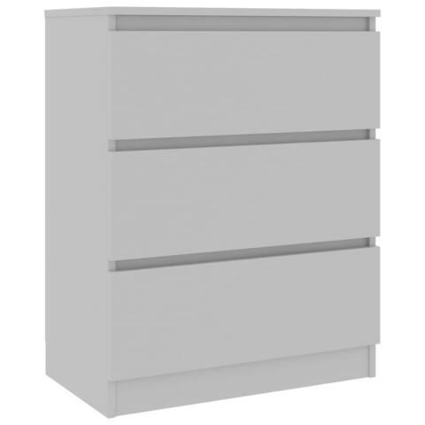 "vidaXL Sideboard Gray 23.6""x13.2""x29.9"" Chipboard"