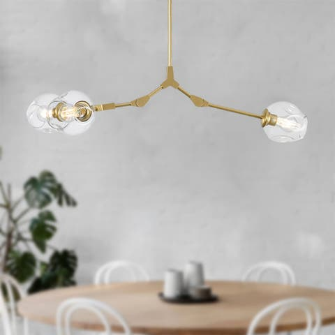 5-Light Gold Adjustable Molecules Chandelier Light