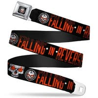 Falling In Reverse Straight To Hell Logo Full Color Black White Red Falling Seatbelt Belt
