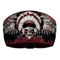 That's A Wrap Men's Winged Chief Skull Performance Knotty Band Headwrap KB1322 - One Size Fits most