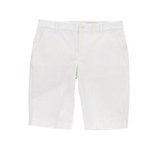 Lauren Ralph Lauren Womens Realeen Bermuda Shorts Twill Comfort Waist