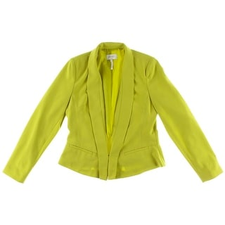 Laundry by Shelli Segal Womens Drapey Lined One-Button Blazer - 8