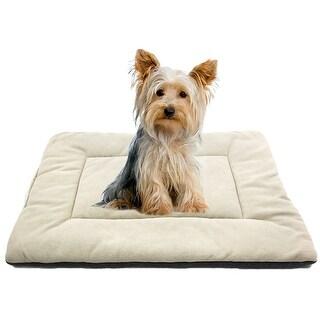 Fleece Reversible Pet Nap Pad Bed Crate Mat for Dogs Cats XS 50*36*2cm Beige