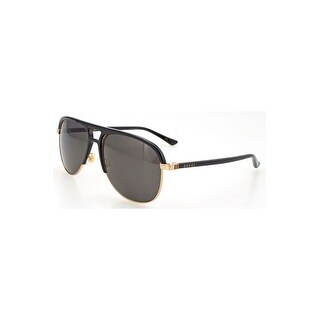 Gucci Grey Aviator Sunglasses Gg0292S-002 60 - black-black-grey - One size
