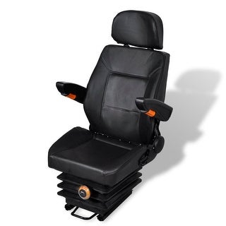 vidaXL Tractor Seat with Arm Rest and Head Spring