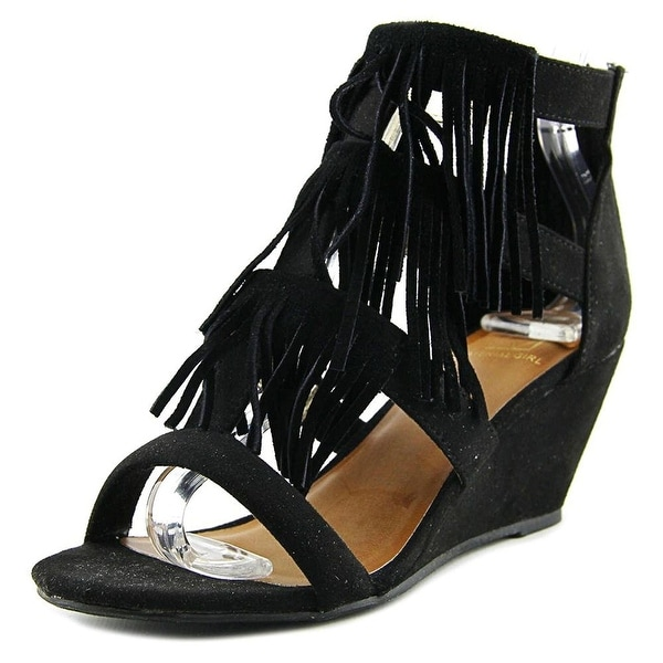 Material Girl Hannah Women Black Wedge Sandal