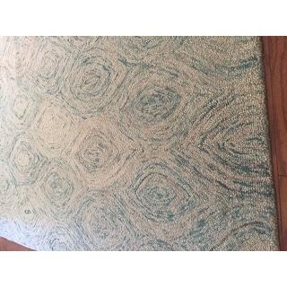 Safavieh Handmade Ikat Ivory/ Sea Blue Wool Rug - 4' x 6'