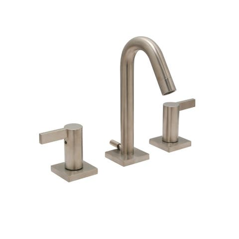 """Emory 8"""" Widespread Bathroom Faucet, PVD Satin Nickel Finish - 8"""" widespread"""