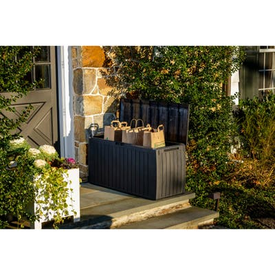 Urban Board Home and Garden Storage Box w/wheels, 76 gallon capacity - 76 gllon