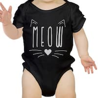 Meow Infant Bodysuit Gift Black
