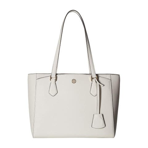 Tory Burch Womens Robinson Birch Small Tote Handbag