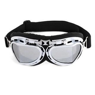 Unisex Full Frame White Lens Ski Snowboarding Goggles Eye Protective Glasses