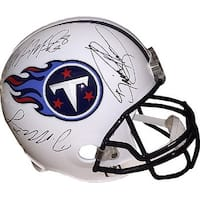 Derrick Henry signed Tennessee Titans Riddell Full Size Replica Helmet 3 sig Henry Hologram